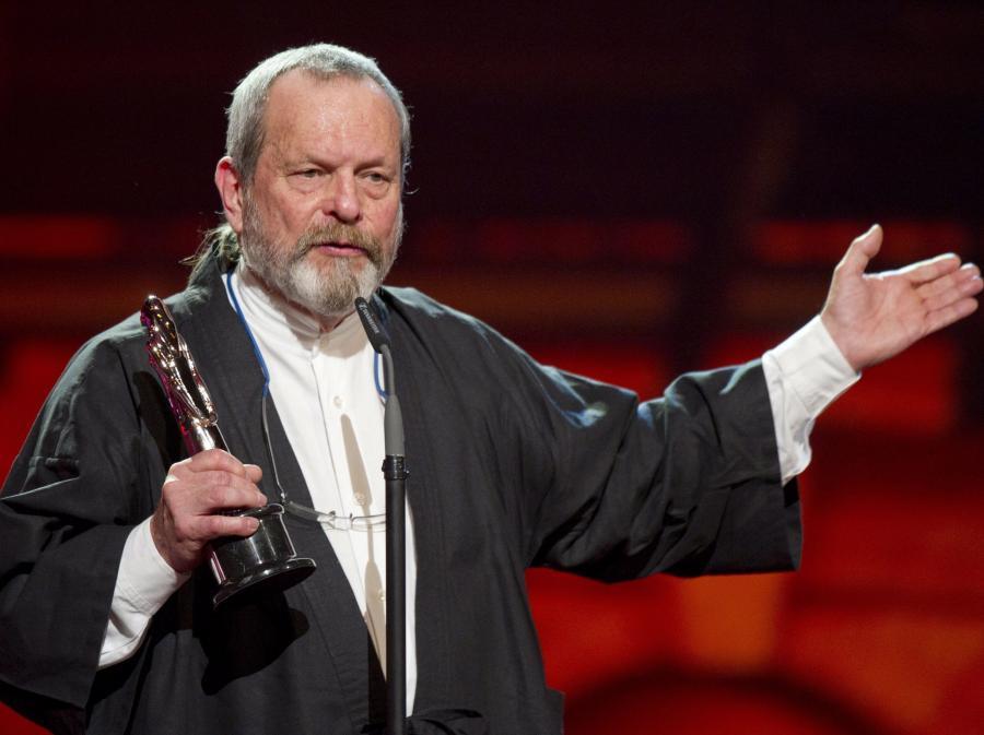 Terry Gilliam na ceremonii wręczenia Europejskich Nagród Filmowych