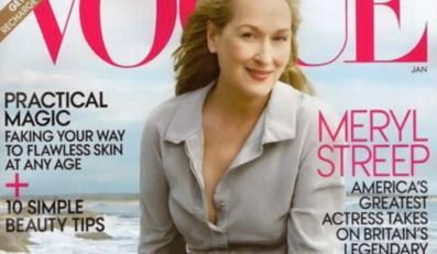 "Meryl Streep na okładce magazynu ""Vogue""."