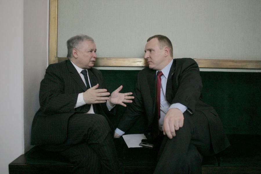 Jarosław Kaczyński i Jacek Kurski
