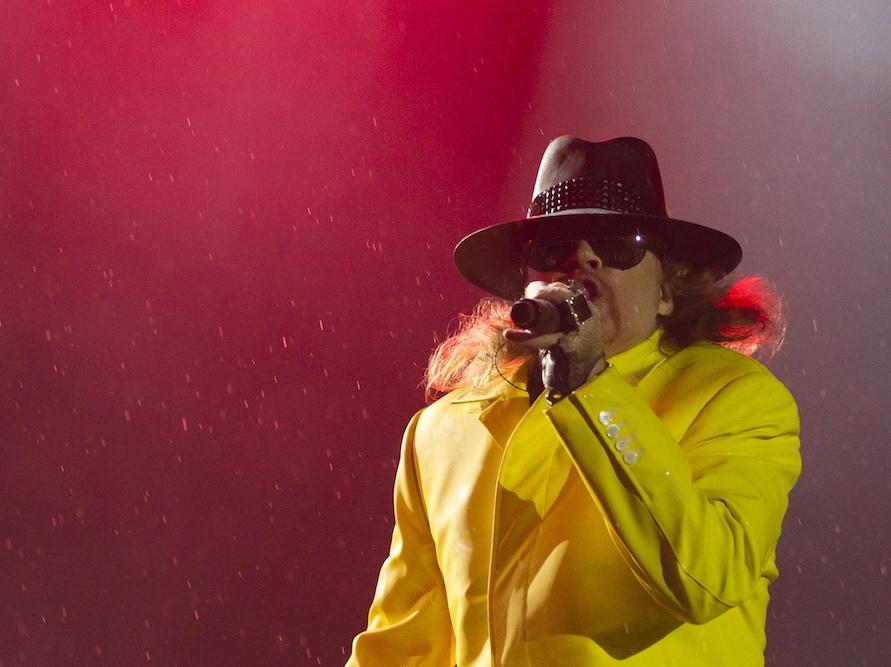 Axl Rose i Guns N\'Roses na Rock in Rio