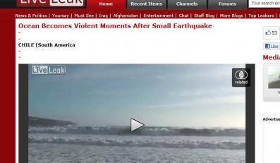 Po małym trzęsieniu ziemi ocean pokazał swoją siłę