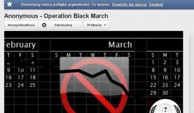 """Grupa Anonymous organizuje """"Czarny marzec"""""""