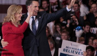 Mitt Romney po wygranych prawyborach w Arizonie i Michigan