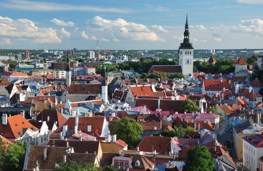 Tallin - panorama stolicy Estonii