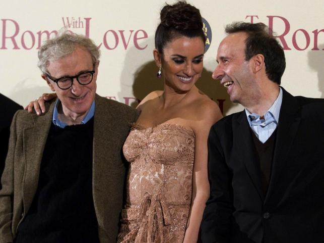 Woody Allen, Penelope Cruz i Roberto Benigni