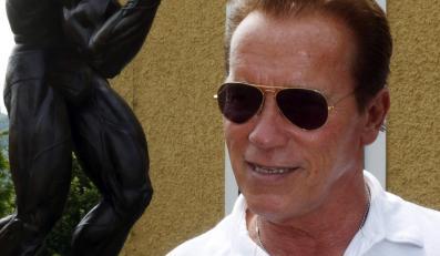 Arnold Schwarzenegger na otwarciu swego muzeum w Graz