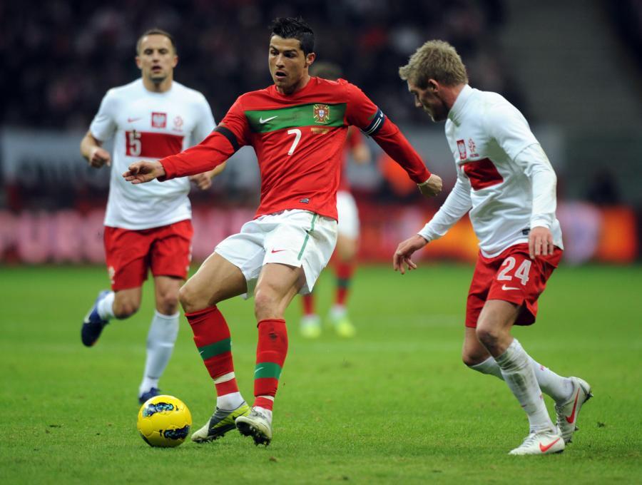 Cristiano Ronaldo i Damien Perquis