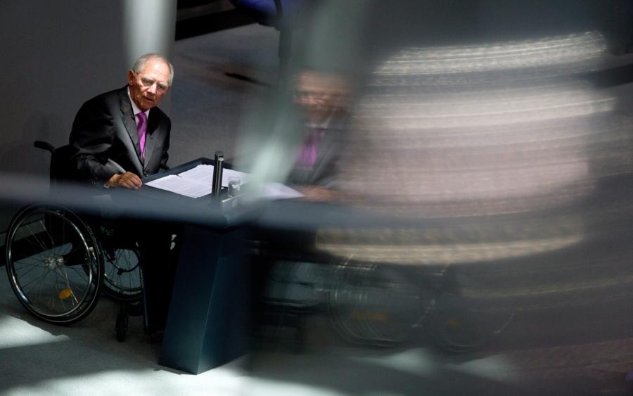 Minister finansów Niemiec Wolfgang Schaeuble