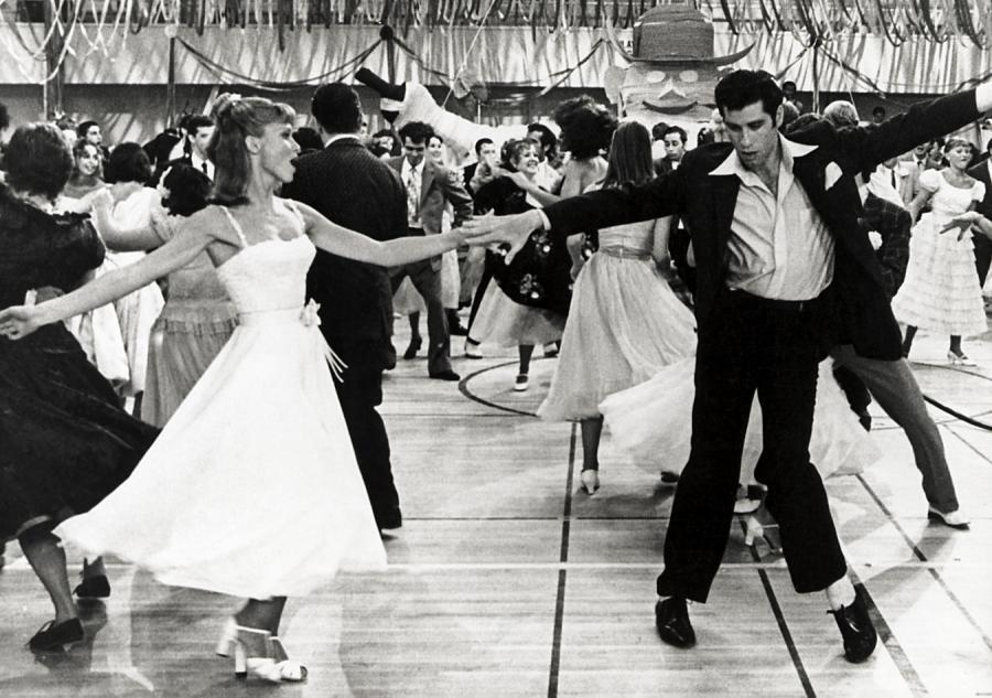 John Travolta i Olivia Newton-John w \