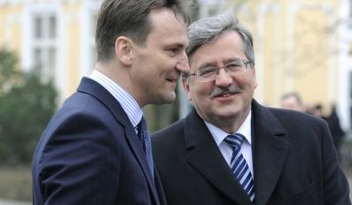 Radosław Sikorski i Bronisław Komorowski