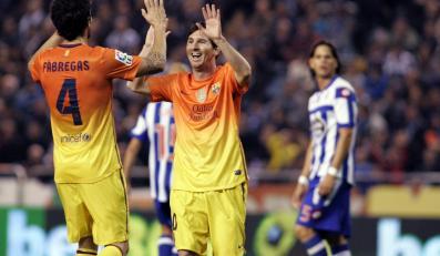 Cesc Fabregas i Leo Messi