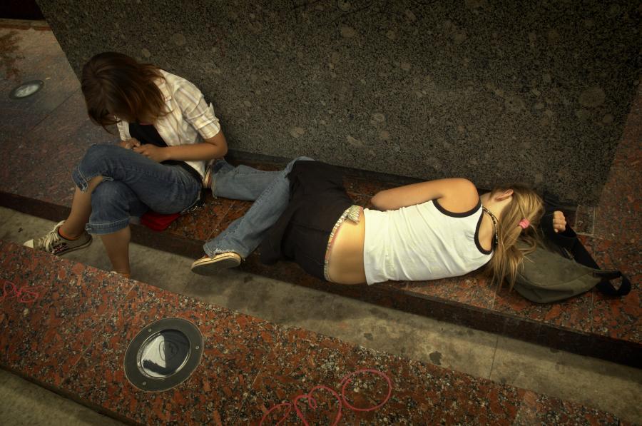 Młodzież po narkotykach