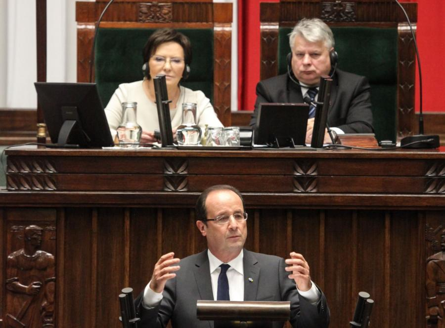 Francois Hollande w Sejmie