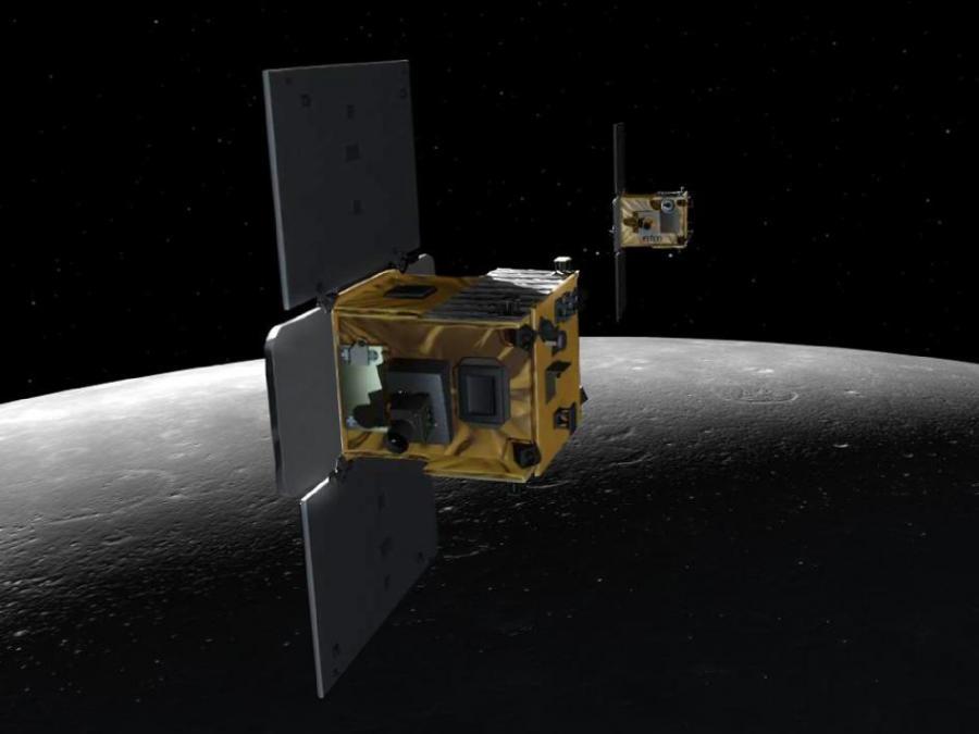 Sonda na tle księżyca