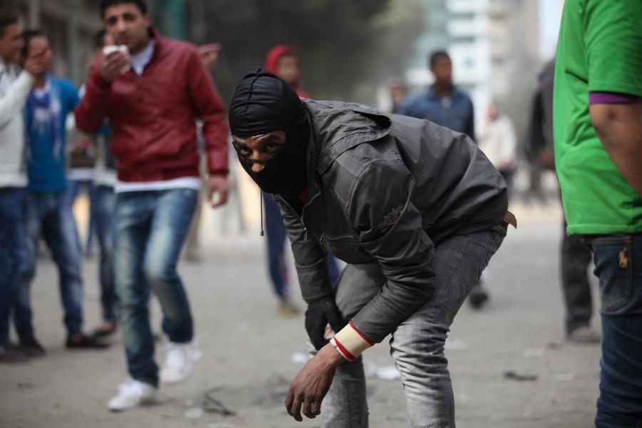 Zamieszki na pl. Tahrir w Egipcie