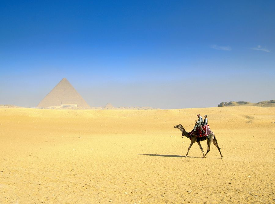 Egipt, piramidy w Gizie