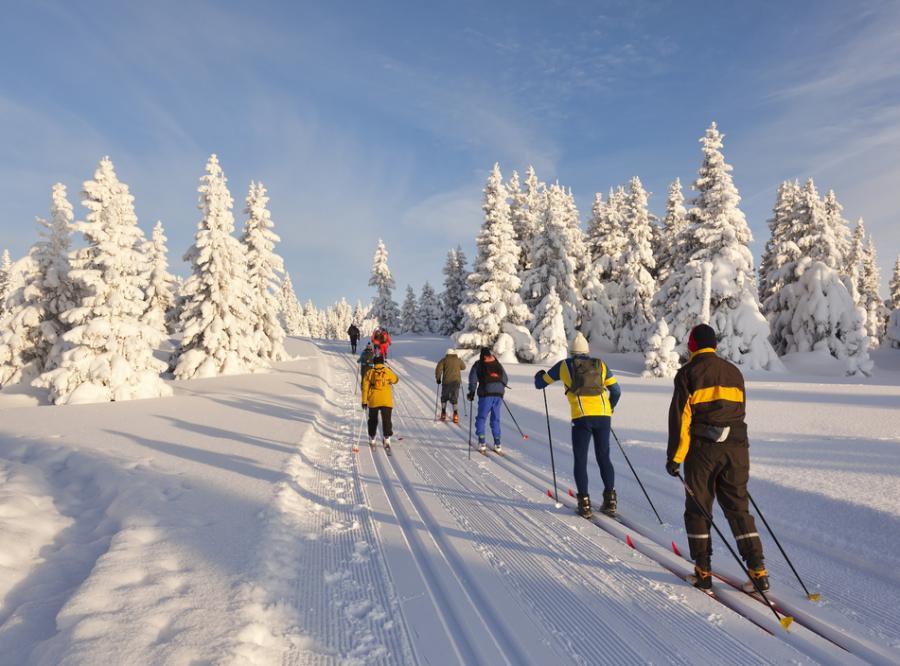 Trasa narciarska nad jeziorem Wigry otwarta
