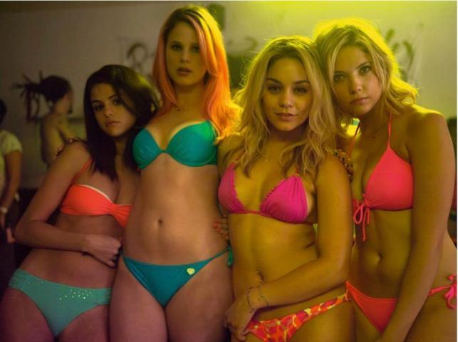 "Gwiazdy ""Spring Breakers"": Selena Gomez, Rachel Korine, Ashley Benson i Vanessa Hudgens"