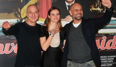 Kasia Smutniak, Claudio Bisio i reżyser Riccardo Milani