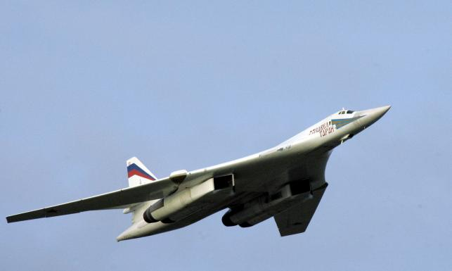 Rosyjski bombowiec Tu-160