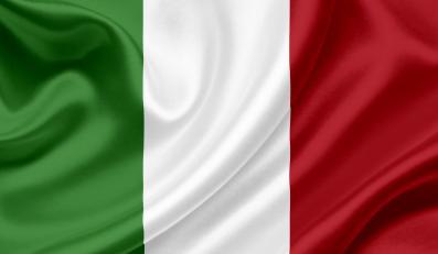 Włoska flaga - zdjęcie lustracyjne