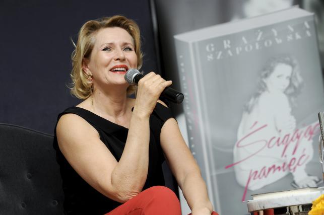 """Grażyna Szapołowska na premierze swojej książki """"Ścigając pamięć"""""""