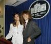 Bon Jovi z żoną Dortheą w Białym Domu (1990)