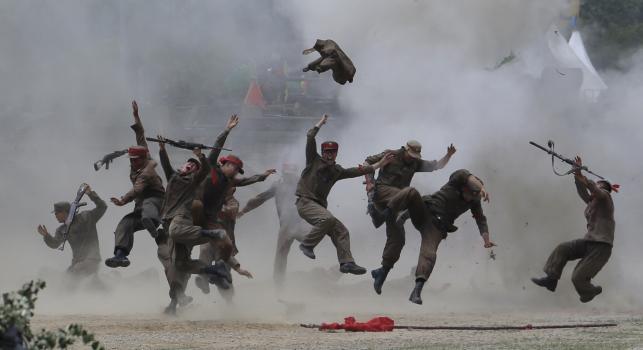 Koreańska wojna 1950-1953. Inscenizacja bitwy pod Chuncheon