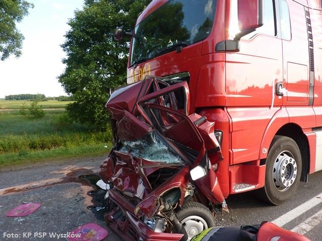 Zderzenie z ciężarówką