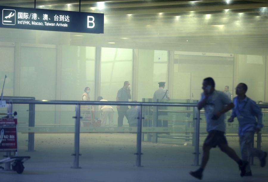 Lotnisko w Pekinie po ekslpozji