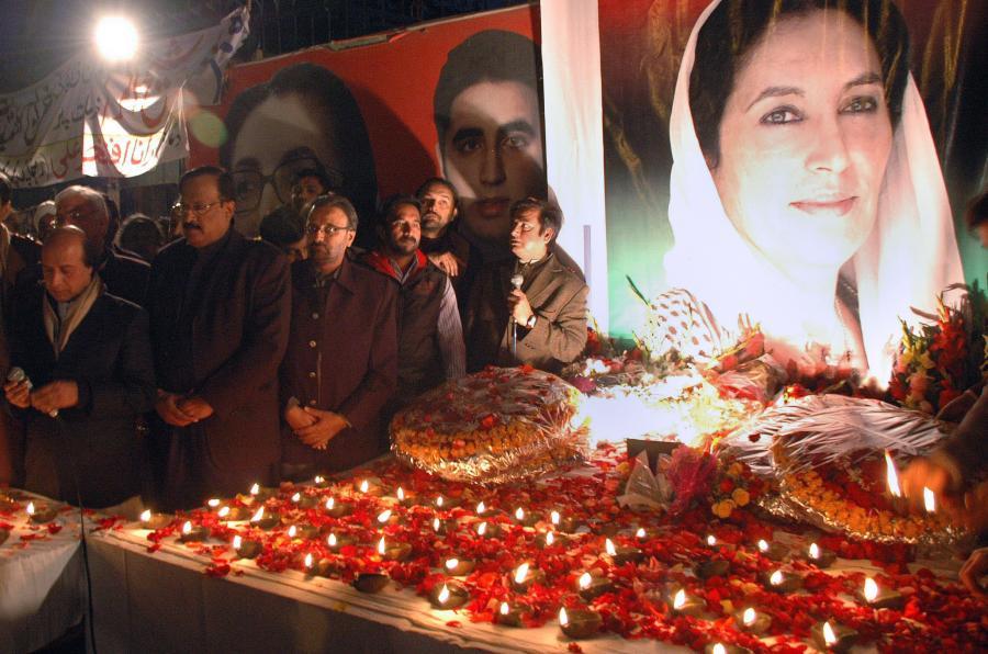 Uroczystości upamiętniające byłą premier Benazir Bhutto