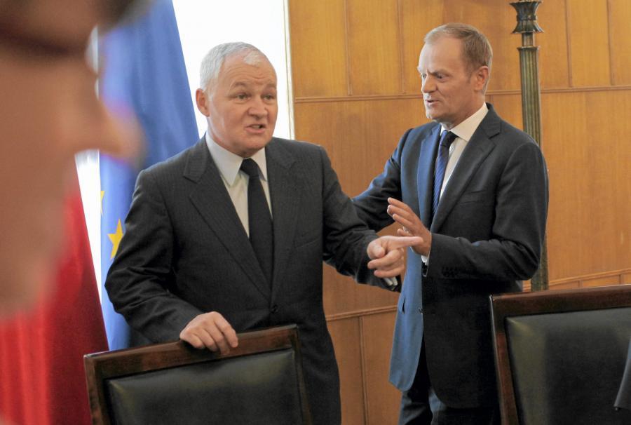 Jan Krzysztof Bielecki i Donald Tusk