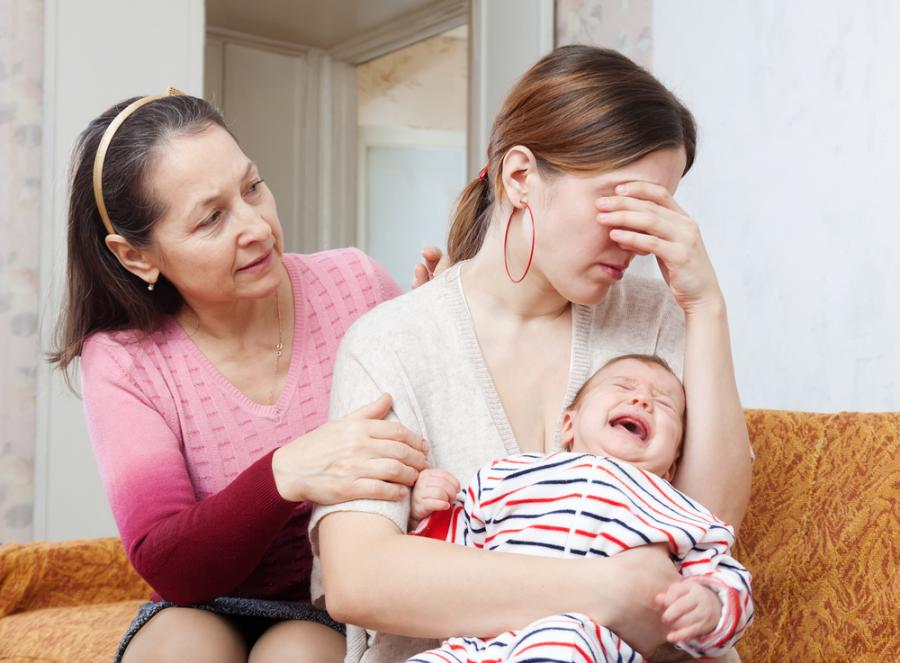 Nieszczęśliwa młoda matka