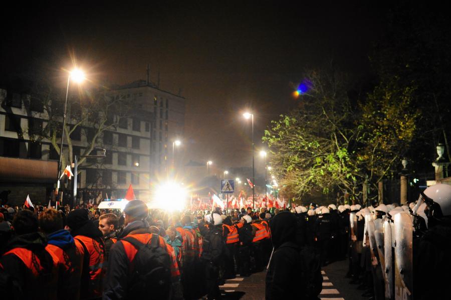 Starcia podczas Marszu Niepodległości