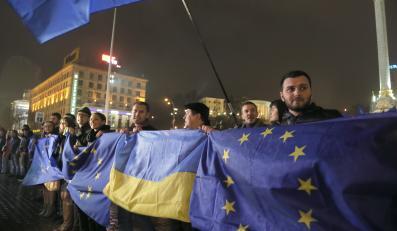 Kijow: Demonstracja zwolenników Unii Europejskiej