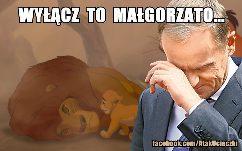 Donald Tusk płacze na \