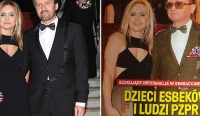 """Monika Olejnik - zdjęcie z Balu Dziennikarzy i fotomontaż na okładce """"wSieci"""""""