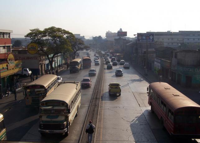 Rzut oka na ulicę Gwatemali