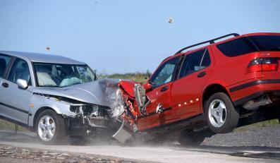 Zderzenie samochodów