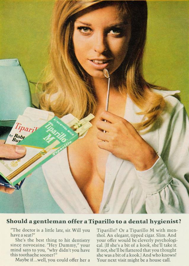 "Papierosy ""Tiparillo"", rok 1968"