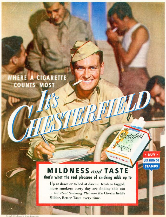 "Papierosy ""Chesterfield"", rok 1943"