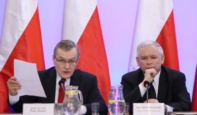 Prof. Piotr Gliński i Jarosław Kaczyński