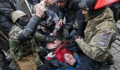 Ukraina, Kijów. Przybywa ofiar