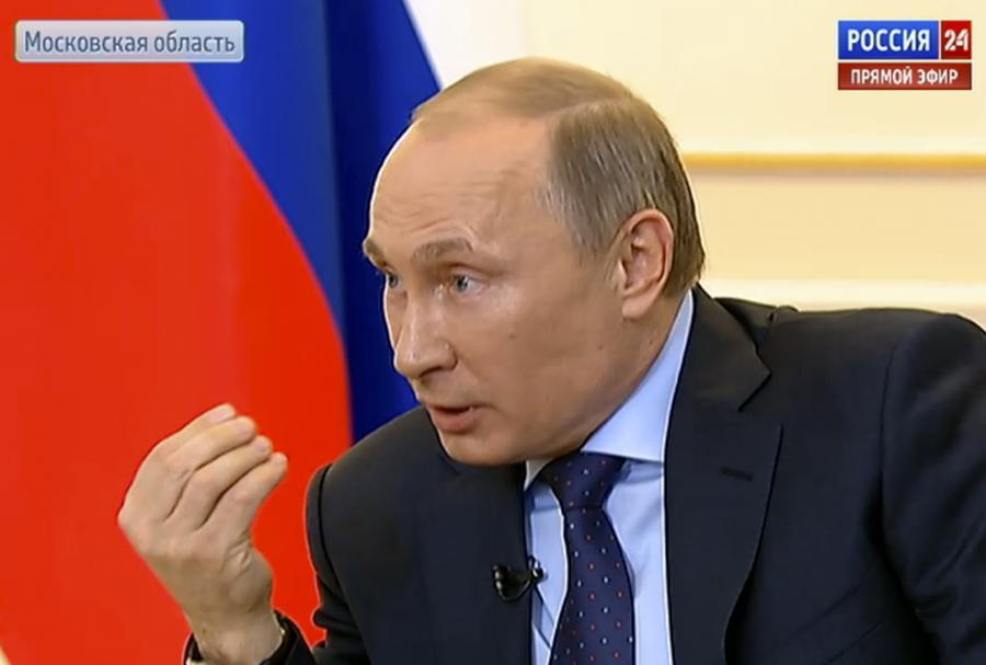 Władimir Putin podczas konferencji