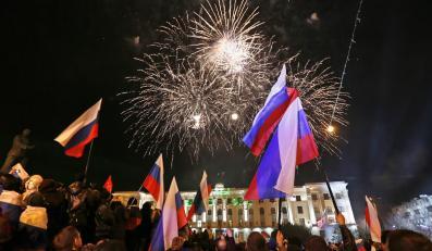 Ludność Krymu świętuje wyniki referendum