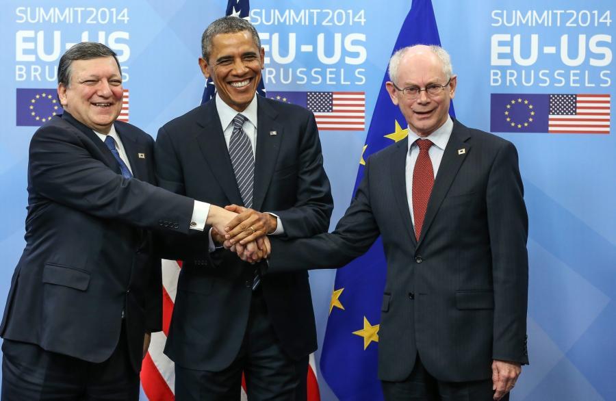 Barack Obama, Herman Van Rompuy i Jose Manuel Barroso