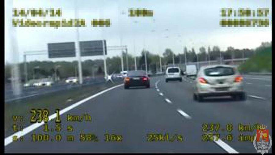 Kadr z wideo policji