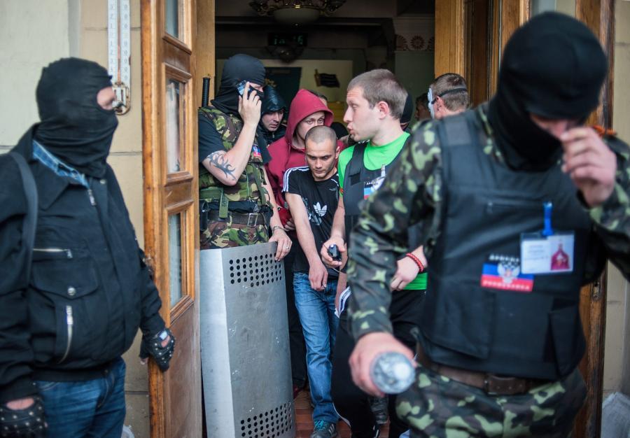 Prorosyjskie bojówki w Doniecku