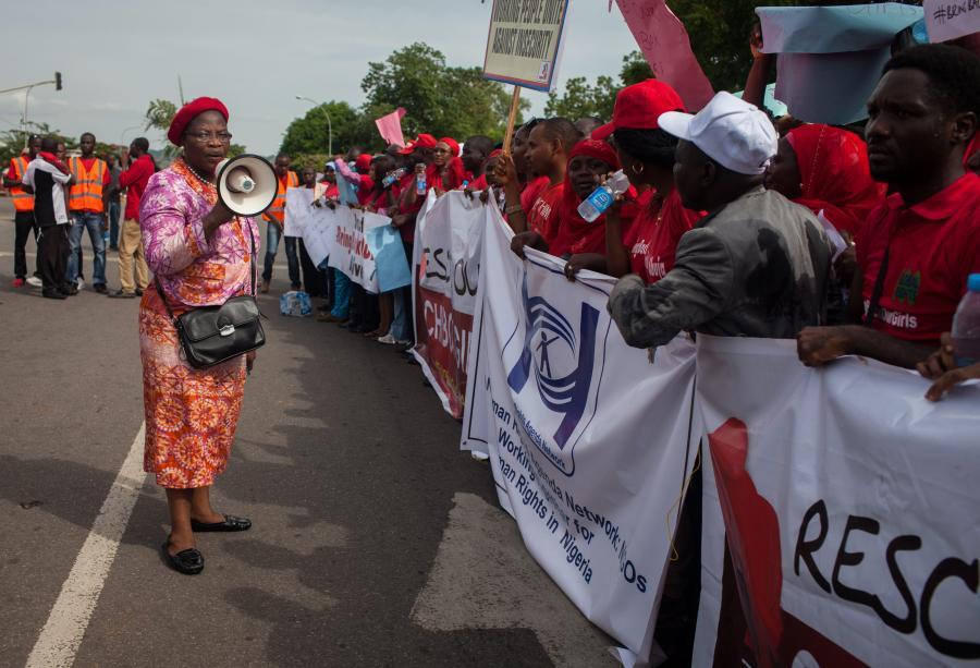 Nigeria: protest przeciwko porwaniu dziewczynek