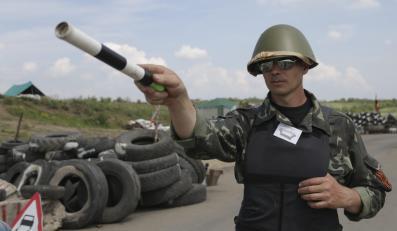 Punkt kontrolny w okolicach Ługańska